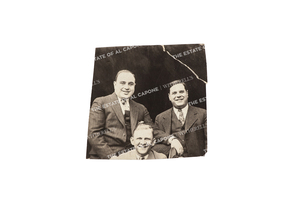 Vintage Silver Print Photograph of Al Capone and Two Associates