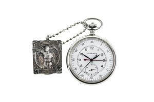 Sonny Capone's Longines Combination/Pocket Watch & Regional Pistol Marksman Award Fob
