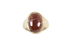 Sonny Capone's 14k Yellow Gold and Carnelian Ring