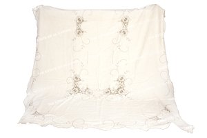 Al and Mae Capone's Embroidered Tablecloth with (12) Napkins