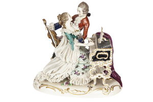 Al and Mae Capone's Dresden Style Germany Made Figurine