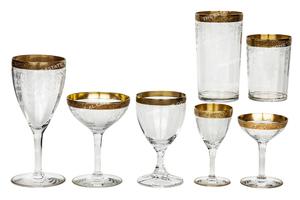 Al and Mae Capone's Gold-Rimmed Crystal Stemware (52)