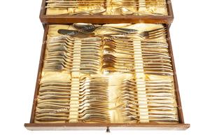 Al and Mae Capone's Dirigold Sweden Flatware Service (117 pieces)
