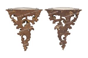 Al and Mae Capone's Rococo Style Wall Brackets