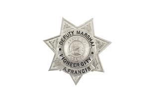 Sonny Capone's (A. Francis) Presentation Deputy Marshall Badge