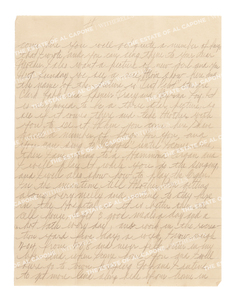 Personal Letter From Al Capone to Sonny Capone from Alcatraz