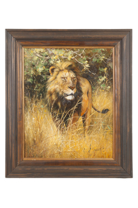 """Eric Forlee (b. 1949) Painting """"Lions"""""""