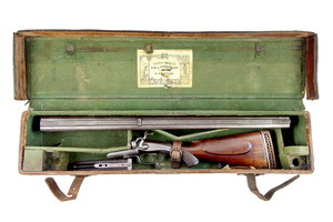 Cased English Double Rifle in .500 Caliber