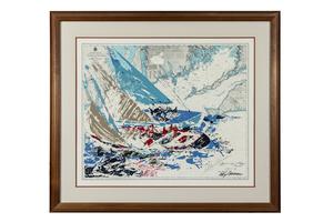 "Leroy Neiman (1921-2012) Serigraph, ""America's Cup"""