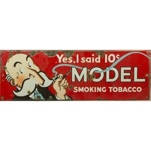 Model Brand Smoking Tobacco Sign