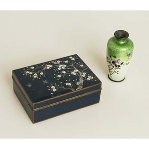 Asian Enamel Box and Vase