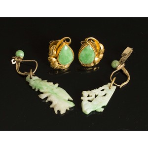 Assorted Jade/14k Gold Jewelry
