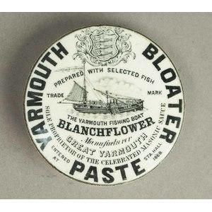 English Yarmouth Bloater (Herring) Paste Jar Top