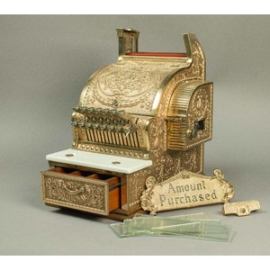 Brass National Cash Register, Candy Store Size