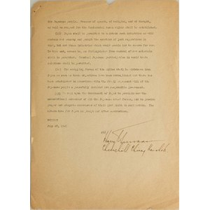 Harry S. Truman Signed Potsdam Proclamation