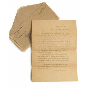 World War II Surrender Demand Letter
