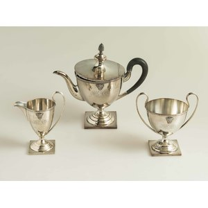 General Anthony McAuliffe 3 Piece Bailey, Banks & Biddle Sterling Tea Service