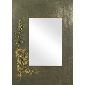 American Aesthetic Movement Mixed Metal Mirror