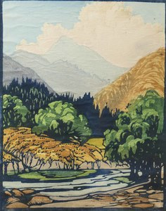 Frances Gearhart Woodblock Print,