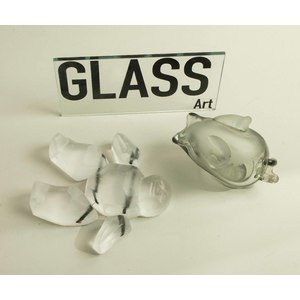 Two Glass Sculptures, Carol Lawton