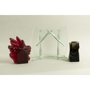 Three Art Glass Sculptures, Carol Lawton